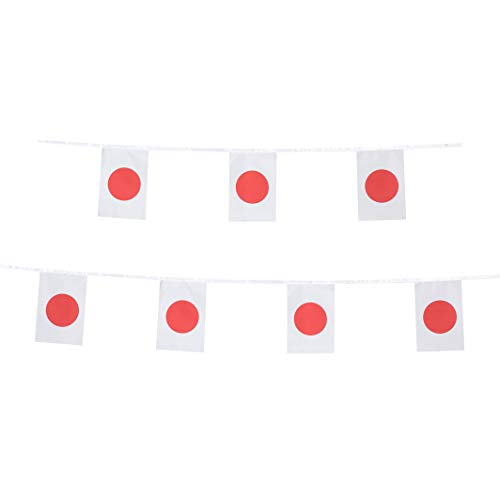 LoveVC Japan Flag, 100 Feet Japanese Flag National Country World String Flags Banners,International Party Decorations Supplies for World Cup,Olympics,Sports Clubs