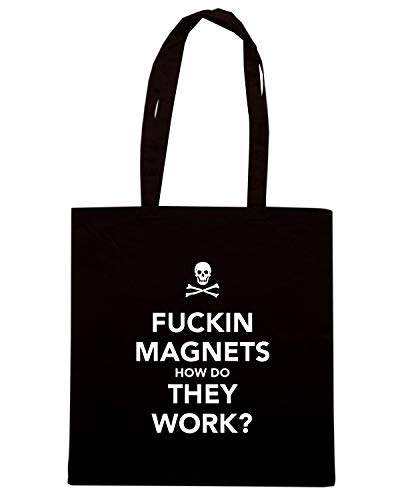 MAGNETS WORK Nera TKC3783 Shirt FUCKIN' Speed DO Shopper HOW THEY Borsa vaaYRO