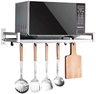 IVHJLP En Bastidor 304 de Acero Inoxidable de Pared microondas Rack/Horno de la Cocina condimento Estante de Almacenamiento/Pared del Horno Bastidor Soporte (Size : 58cm): Amazon.es: Hogar