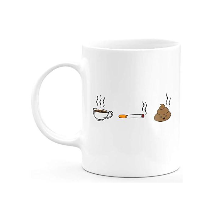 3187iCBkuAL Taza humorística con mensaje en inglés para hombre y mujer Taza de cerámica de alta calidad, con tinta de calidad que hace que sea resistente al microondas y al lavavajillas. Taza blanca de 330 ml.