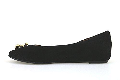EDDY DANIELE Scarpe Donna 37 EU Ballerine Nero Camoscio AX904