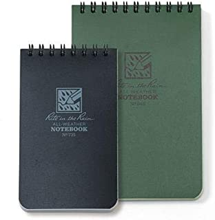 "product image for Rite in the Rain 935, 3"" x 5"" Waterproof Notebook, Green, Multi Pack (2)"