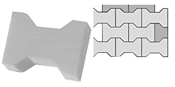 SET of 16 pavement slab moulds makers ornate pattern 8 small and 8 large