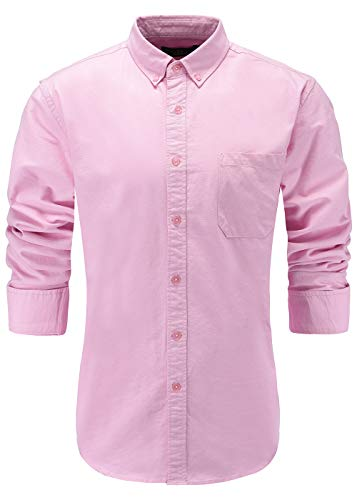 KateSui Mens Slim Fit Long Sleeve Button-Down Plaid Dress Shirt