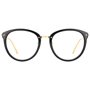 Slocyclub Classic Retro Round Metal Eyewear Frame Optical Eyeglasses Clear Lens Rx-able Glasses