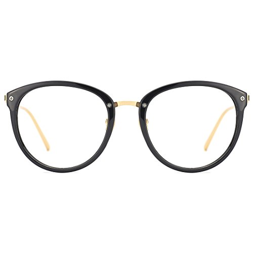 Slocyclub Classic Retro Round Metal Eyewear Frame Optical Eyeglasses Clear Lens Rx-able - Eyeglass Shopping Online Frames