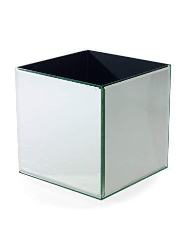 8 Square Vase (Richland Mirror Cube Riser 8 Inch Square Vase)