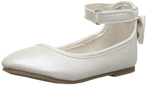 carter's baby-girls' Arietta Ballet Flat, Ivory, 9 M US Toddler