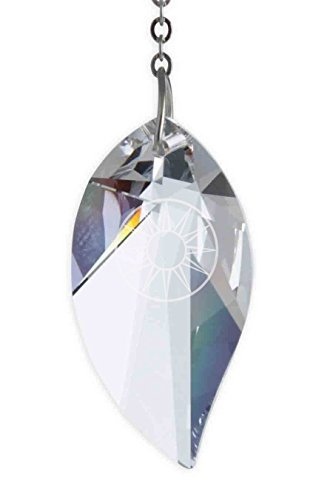 7df73b213 Emblems-Gifts Hanging Crystal Suncatcher/Rainbow Maker with 40mm Leaf  Crystal - Made Using a Swarovski Crystal: Amazon.co.uk: Kitchen & Home