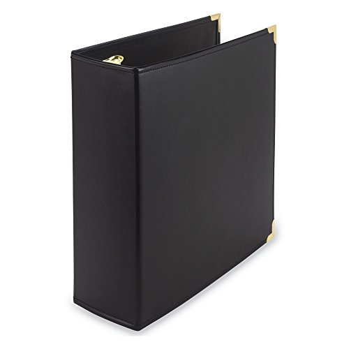 Brass 3' Ring - Samsill Classic Collection Executive Presentation 3 Ring Binder/Portfolio Binder, 3 Inch Binder, Brass Round Ring (Holds 550 Sheets), Burgundy