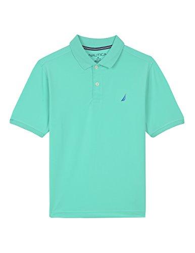 96ca63a1 Amazon.com: Nautica Boys' Short Sleeve Solid Performance Polo Shirt:  Clothing