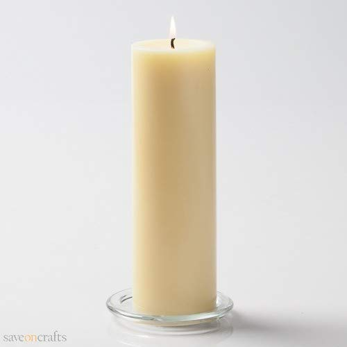 Pillar Candles 3''x6'' Yellow Set of 24 - Excellent Home Decor - Indoor & Outdoor