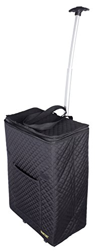 dbest products Smart  Cart Shopper Tote Travelux Series, Black Premium Quilted Cart Weekender Bag Carry-on
