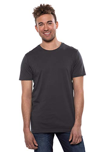 (Texere Men's Crew Neck T-Shirt (Komi, Dark Shadow, L))
