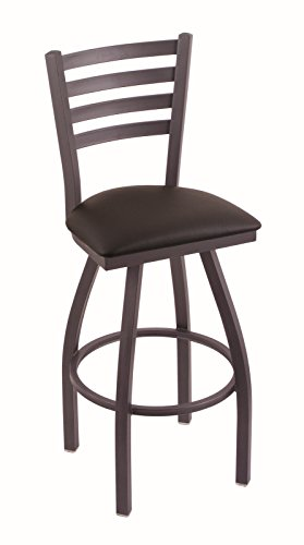 "Holland Bar Stool Co. 410 Jackie 36"" Bar Stool with Pewter Finish and Swivel Seat, Allante Espresso from Holland Bar Stool Co."