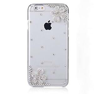 YULIN Carcasa Cubierta de Joyas - / Decorado caja del Rhinestone Diamond - para iPhone 6 ( Blanco , Policarbonato )
