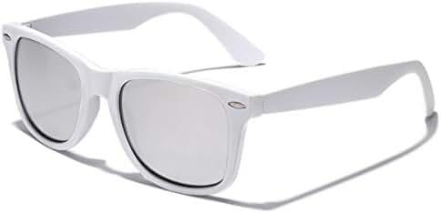 Colorful Retro Fashion Sunglasses - Rubber Frame with Color Mirror Lens