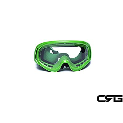 CRG Sports Motocross ATV Dirt Bike Off Road Racing Goggles GREEN T815-3-5 T815-3-5 Transparent lens green frame: Automotive