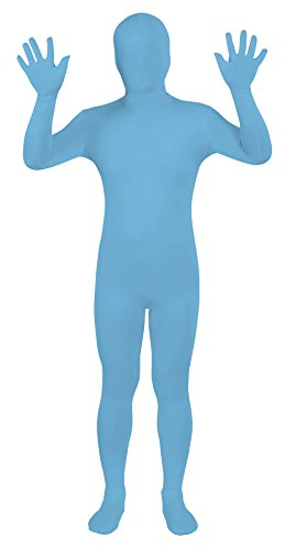 Sheface Spandex Full Bodysuit Zentai Costume (Small, Sky Blue) - Full Bodysuit Costume