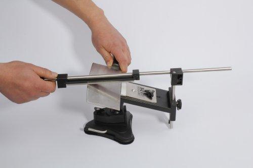 KKmoon Upgraded Küchen- Messerschärfer Sharpemaker Kits System 4 mit festen Winkel.