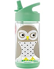 3 Sprouts Water Bottle - Kids Small Spill Proof 12oz. Plastic Spout Water Bottle