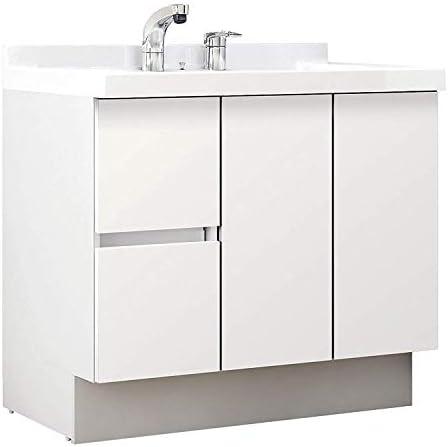 イナックス(INAX) 洗面化粧台 J1プラスシリーズ 幅90cm 片引出タイプ シングルレバーシャワー水栓 J1HT905SYNYS2H 寒冷地用 グロスホワイト(YS2H)