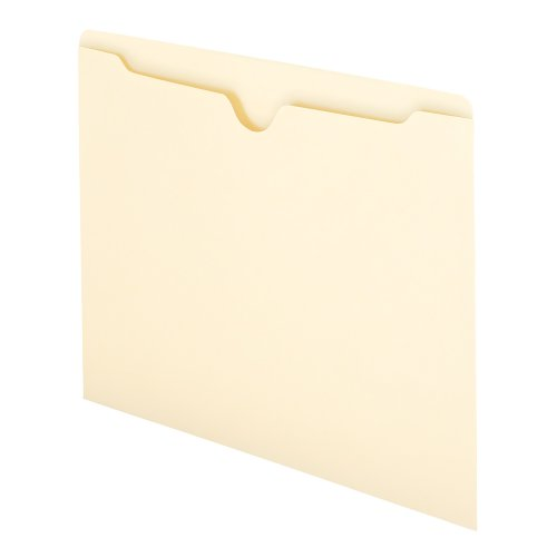 Smead File Jacket, Flat-No Expansion, Letter Size, Manila, 100 per Box - File Jacket Smead