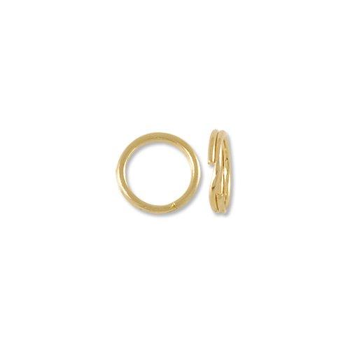 Split Ring 6.5mm 14 Karat Yellow Gold (14k Gold Ring Yellow Split)