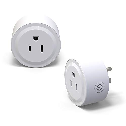 WiFi Smart Plug Socket Mini Outlet Compatible Amazon Alexa/Echo/Google Home Assistant/ETL Listed/No Hub Required/Smart Home Devices/Mini Smart Socket with Timer/USB Wall Charger Port (White 2 Pack)