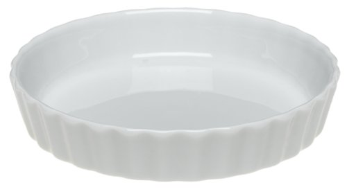 Pillivuyt Porcelain Extra-Small 4-1/4-Inch Individual Tart/Creme Brulee Dish