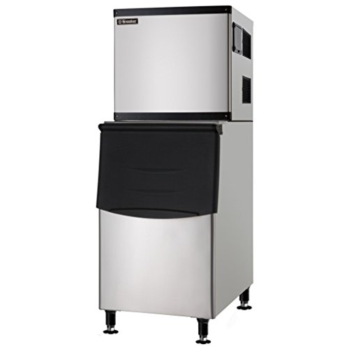 Full Cube Large Capacity Commercial Ice Machine with Storage Bin - 350 lb. - Air Cooled