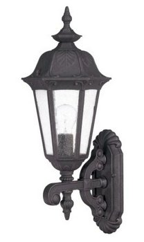 Arm Down Light 1 (1 Light - Arm Down MidSize Wall Lamp - Seeded Glass)