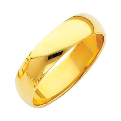 White Gold Solid 5mm CLASSIC FIT Wedding Band Ring OR Wellingsale Mens 14k Yellow