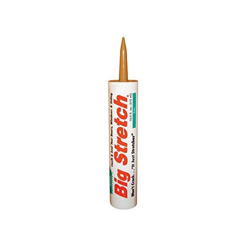 (Sashco 10014 100 Percent Acrylic Latex Big Stretch High Performance Caulk, 10.5oz Cartridge, Tan (Case of 12))