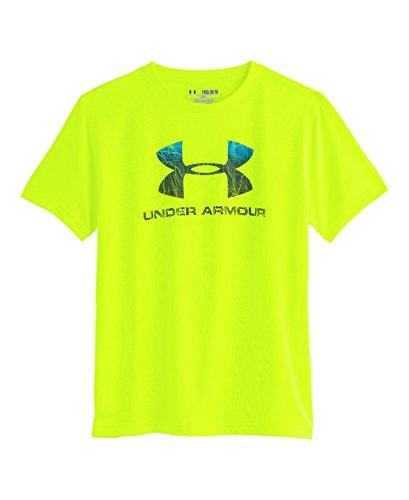 Under Armour Big Boys' UA Big Logo Plus T-Shirt YXS High-Vis Yellow
