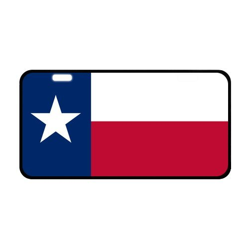 Texas Falg Novelty Stylish Durable And Strong Aluminum Car License Plate 11.8