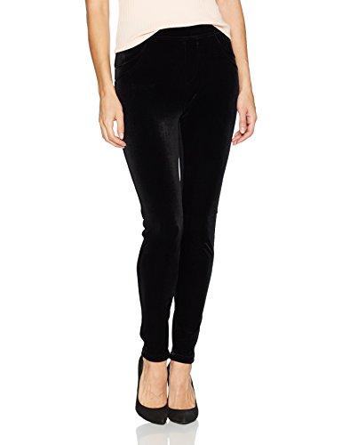 Calvin Klein Women's Stretch Velvet Legging, Black, (Black Velvet Trousers)