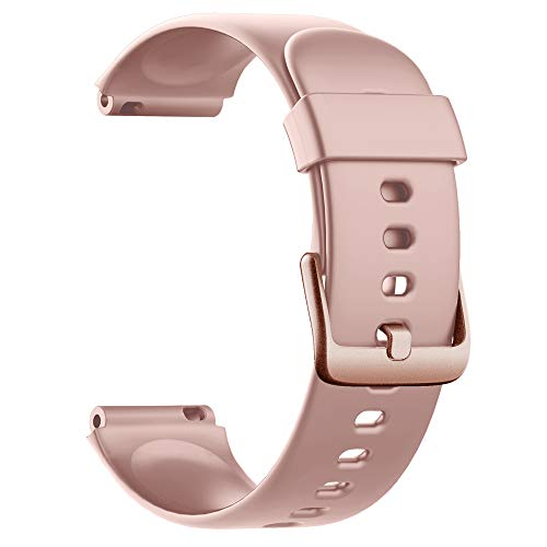 Soft Silicone Smart Watch Bands Replacement Straps Bands for Willful ID205L Smart Watch (Pink)
