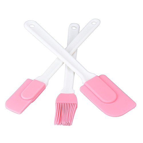 Baking Brushes, Silicone Pastry Flour Oil Cream Spatulas BBQ Tool Basting Brush