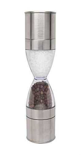 Xena Elegant Hourglass Salt and Pepper Grinder Set Salt Grinder Pepper Mill Salt Shaker Set 2 In 1 Duo