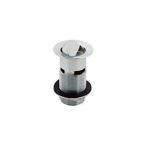 Modern Bathroom Flip Top Brass Basin Sink Waste Plug Slotted 1 1//4 BSP Chrome
