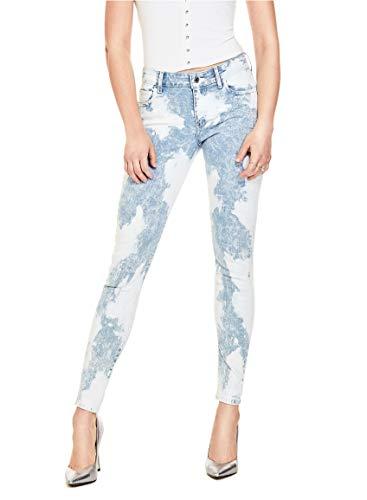 GUESS Women's Mid Rise Skinny Jean (26, Indigo Tie Dye Wash) ()