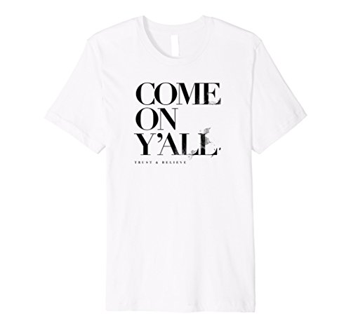 Mens Shaun T Come On Y'all Inspirational T-Shirt 3XL White