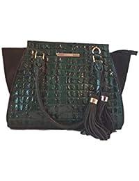 Mini Priscilla Emerald Moore dark green satchel Handbag