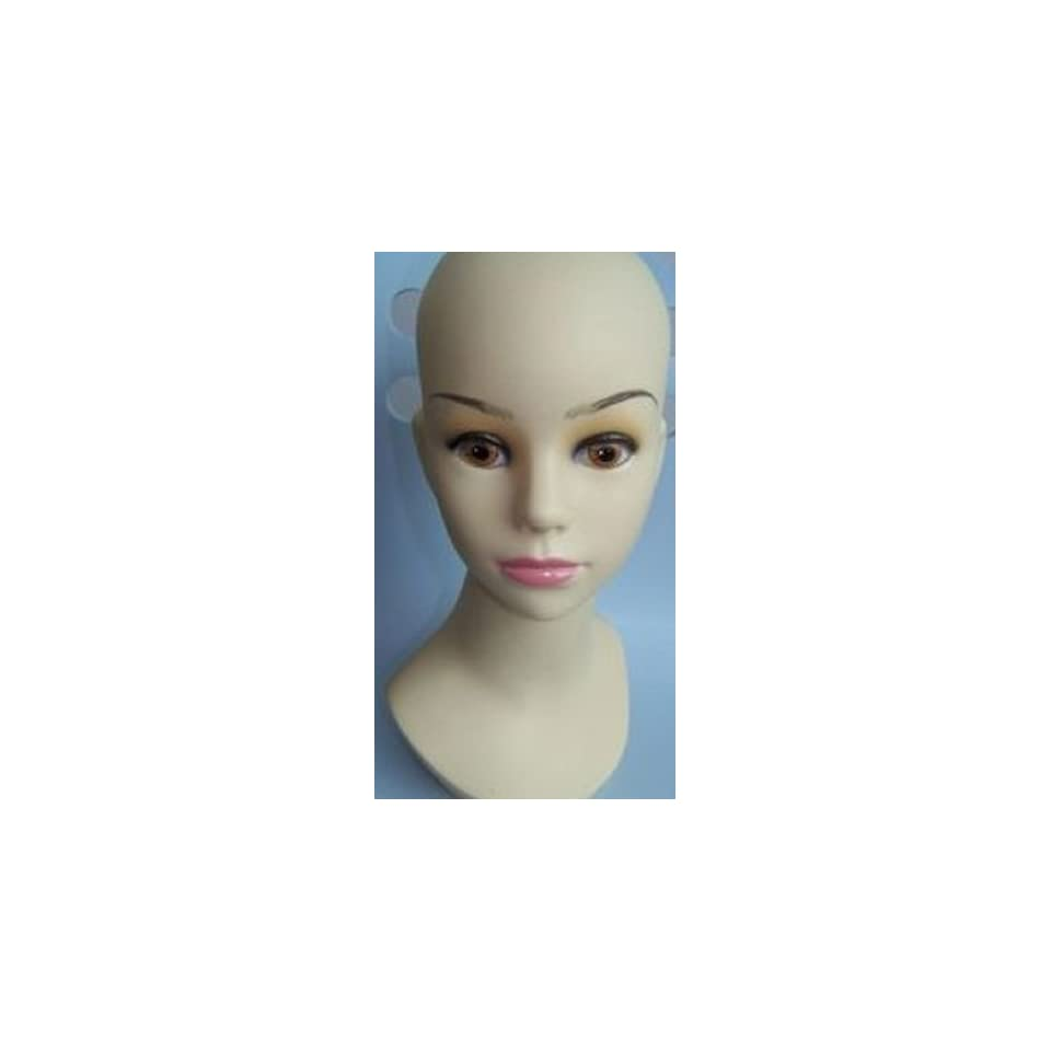 Child Kid Teenage girl Mannequin Head for Display cap hat Helmet hair
