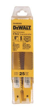 Dewalt-Accessories-Dw4802b25-6-Inch-6-Tpi-Bi-Metal-Reciprocating-Saw-Blade-Quantity-25-Reciprocating-Saw-Blades