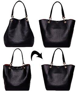 courses Noir de à d'épaule main Noir Mesdames cuir Sac noir Sacs Sac Designer SQLP Femme Cabas Y7Opgxq
