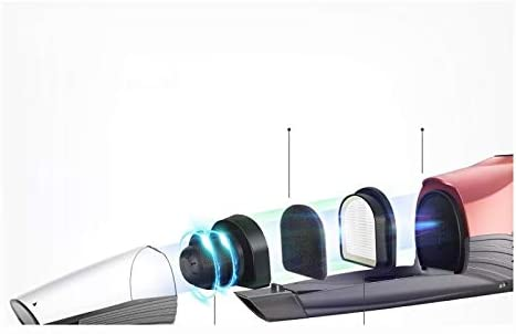 LQPOUXCQ aspirateur balai 3 En 1 Aspirateur Portatif Sans Fil 2200mAh Puissant Aspiration À Faible Bruit De Voiture Mini Aspirateur Avec Des Lumières