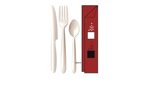 Kit y cuchillos 6/1 Starck: cubiertos marfil + sal + ...