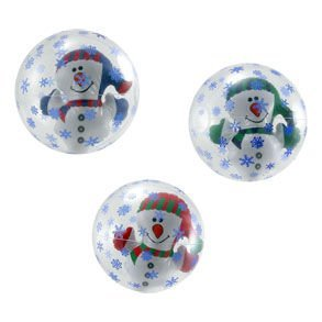 Inflate Snowman In Snowflake Beach Ball by Century Novelty